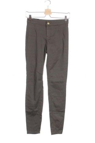 Дамски панталон H&M, Размер XXS, Цвят Кафяв, 98% памук, 2% еластан, Цена 11,39лв.