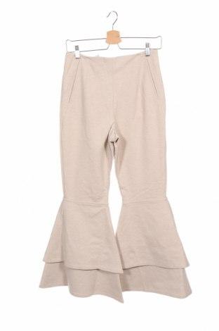 Дамски панталон House of Sunny, Размер XS, Цвят Бежов, 36% вискоза, 34% полиестер, 25% полиамид, 5% еластан, Цена 38,71лв.