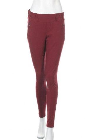 Дамски панталон Kaffe, Размер S, Цвят Червен, 68% полиестер, 28% вискоза, 4% еластан, Цена 8,66лв.