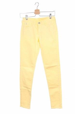 Дамски панталон Le Temps Des Cerises, Размер XS, Цвят Жълт, 98% памук, 2% еластан, Цена 25,37лв.