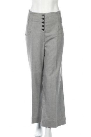Дамски панталон Mango, Размер M, Цвят Сив, 78% полиестер, 20% вискоза, 2% еластан, Цена 14,70лв.