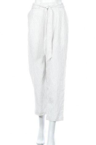 Дамски панталон Monki, Размер M, Цвят Бял, 74% вискоза, 23% полиамид, 3% полиестер, Цена 25,76лв.