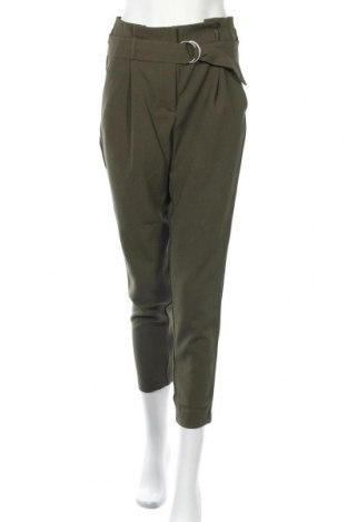 Дамски панталон ONLY, Размер S, Цвят Зелен, 97% полиестер, 3% еластан, Цена 25,37лв.