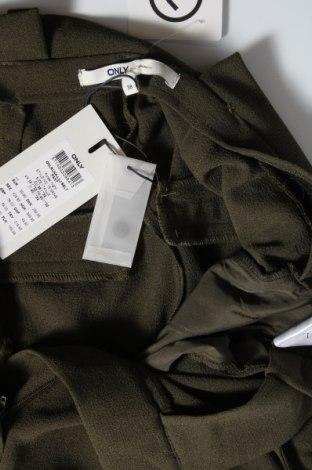 Дамски панталон ONLY, Размер M, Цвят Зелен, 97% полиестер, 3% еластан, Цена 25,37лв.