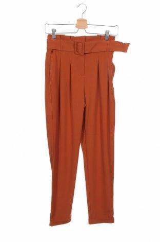 Дамски панталон ONLY, Размер XS, Цвят Кафяв, 63% полиестер, 33% вискоза, 4% еластан, Цена 33,63лв.