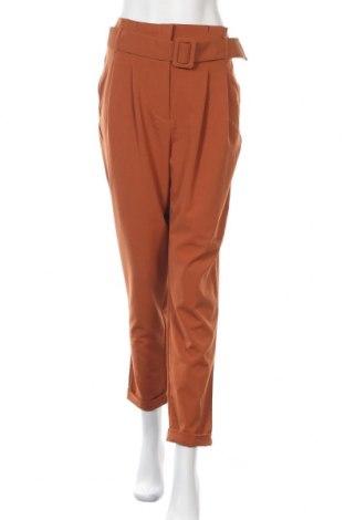 Дамски панталон ONLY, Размер M, Цвят Кафяв, 63% полиестер, 33% вискоза, 4% еластан, Цена 20,82лв.