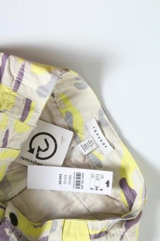 Дамски панталон Topshop, Размер XS, Цвят Многоцветен, Памук, Цена 21,69лв.