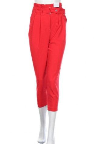 Pantaloni de femei Topshop, Mărime S, Culoare Roșu, 78% poliester, 16% viscoză, 6% elastan, Preț 129,94 Lei