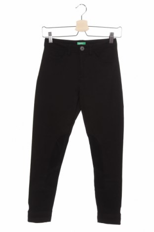 Дамски панталон United Colors Of Benetton, Размер XS, Цвят Черен, 69% вискоза, 27% полиамид, 4% еластан, Цена 10,08лв.