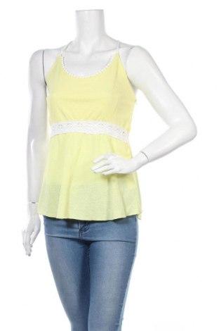 Γυναικείο αμάνικο μπλουζάκι, Μέγεθος M, Χρώμα Κίτρινο, 100% πολυεστέρας, Τιμή 9,74€