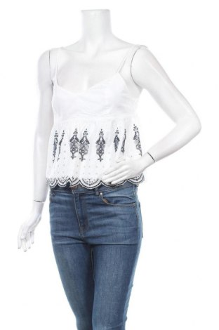Дамски потник Abercrombie & Fitch, Размер S, Цвят Бял, 100% памук, Цена 35,70лв.