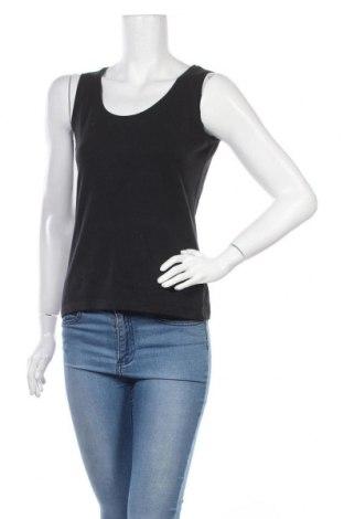 Γυναικείο αμάνικο μπλουζάκι Casual By Gemo, Μέγεθος M, Χρώμα Μαύρο, 95% βαμβάκι, 5% ελαστάνη, Τιμή 8,44€