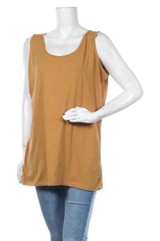 Γυναικείο αμάνικο μπλουζάκι Charles Vogele, Μέγεθος XXL, Χρώμα Καφέ, 95% βαμβάκι, 5% ελαστάνη, Τιμή 7,01€