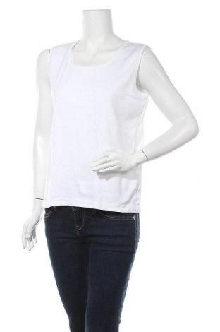 Γυναικείο αμάνικο μπλουζάκι Charles Vogele, Μέγεθος L, Χρώμα Λευκό, Βαμβάκι, Τιμή 8,02€