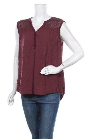 Γυναικείο αμάνικο μπλουζάκι Charles Vogele, Μέγεθος XL, Χρώμα Κόκκινο, Βισκόζη, πολυαμίδη, Τιμή 4,68€