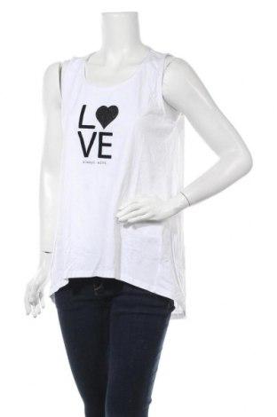 Γυναικείο αμάνικο μπλουζάκι Charles Vogele, Μέγεθος L, Χρώμα Λευκό, Βαμβάκι, Τιμή 10,52€