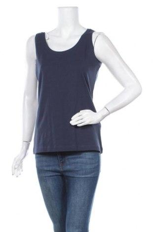 Γυναικείο αμάνικο μπλουζάκι Charles Vogele, Μέγεθος M, Χρώμα Μπλέ, Βαμβάκι, Τιμή 3,51€