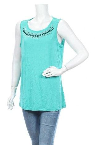 Γυναικείο αμάνικο μπλουζάκι Charles Vogele, Μέγεθος L, Χρώμα Πράσινο, Βισκόζη, Τιμή 4,38€