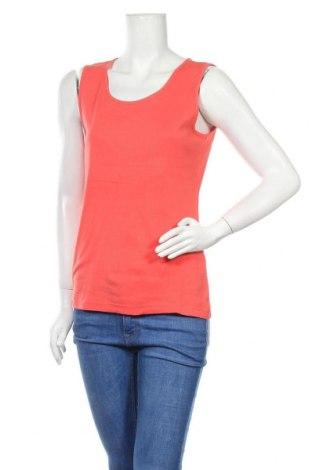 Γυναικείο αμάνικο μπλουζάκι Charles Vogele, Μέγεθος L, Χρώμα Πορτοκαλί, Βαμβάκι, Τιμή 4,55€