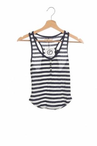 Γυναικείο αμάνικο μπλουζάκι Hollister, Μέγεθος XS, Χρώμα Λευκό, 55% βαμβάκι, 38% πολυεστέρας, 7% ελαστάνη, Τιμή 9,46€