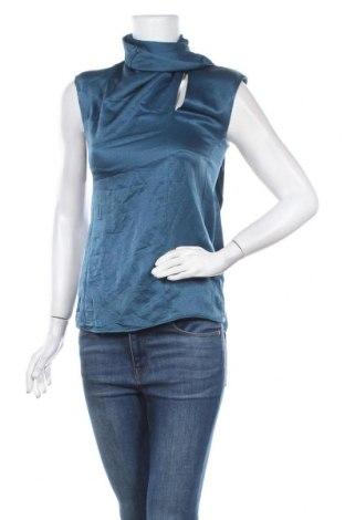 Дамски потник Massimo Dutti, Размер XS, Цвят Син, 75% вискоза, 25% коприна, Цена 17,96лв.