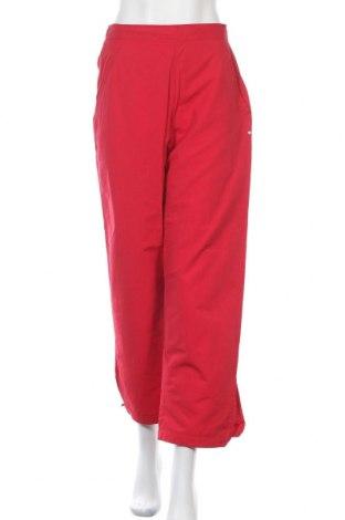 Дамски спортен панталон Adidas, Размер M, Цвят Червен, 62% памук, 38% полиестер, Цена 7,22лв.