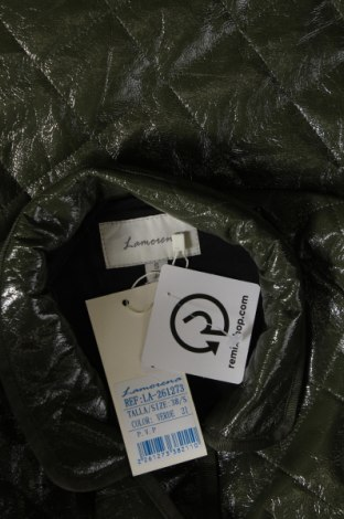Дамско кожено яке La Morena, Размер S, Цвят Зелен, Еко кожа, Цена 37,51лв.