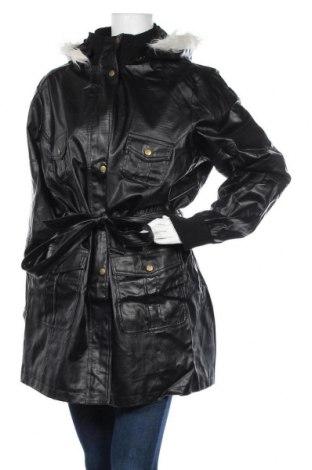 Дамско кожено яке Urban By Venca, Размер 3XL, Цвят Черен, Еко кожа, Цена 94,00лв.