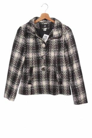 Dámský kabát  H&M, Velikost XS, Barva Vícebarevné, 60% vlna, 40% viskóza, Cena  574,00Kč