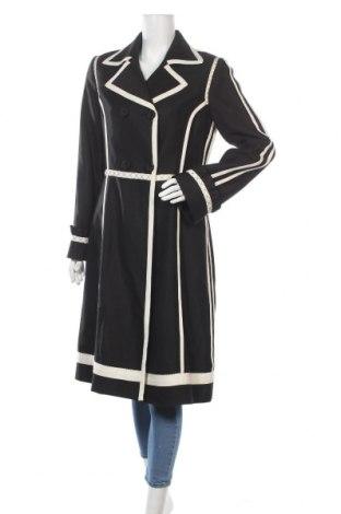 Дамско палто Moschino, Размер M, Цвят Черен, 74% памук, 26% вискоза, Цена 902,85лв.