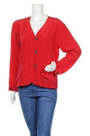 Дамско сако Anne Klein, Размер XL, Цвят Червен, Коприна, Цена 32,40лв.