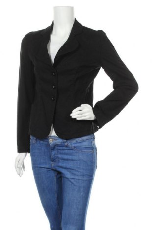 Дамско сако Armani Jeans, Размер XL, Цвят Черен, 58% лен, 40% вискоза, 2% еластан, Цена 60,75лв.