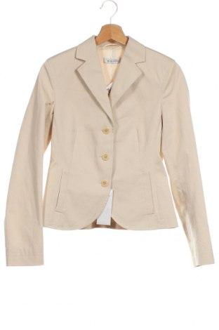 Дамско сако Rene Lezard, Размер XS, Цвят Бежов, 98% памук, 2% еластан, Цена 97,28лв.