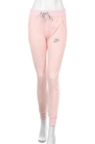 Pantaloni trening de femei Nike, Mărime M, Culoare Roz, Bumbac, Preț 122,85 Lei