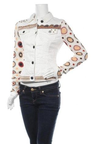 Γυναικείο μπουφάν Desigual, Μέγεθος S, Χρώμα Λευκό, 79% βαμβάκι, 19% πολυεστέρας, 1% ελαστάνη, 1% βισκόζη, Τιμή 50,80€
