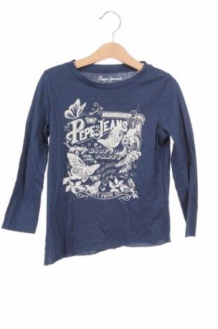 Детска блуза Pepe Jeans, Размер 3-4y/ 104-110 см, Цвят Син, Памук, Цена 15,87лв.