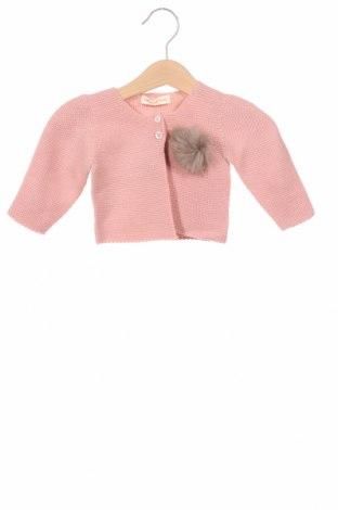 Детска жилетка Lola Palacios, Размер 9-12m/ 74-80 см, Цвят Розов, Акрил, естествен косъм, Цена 25,20лв.