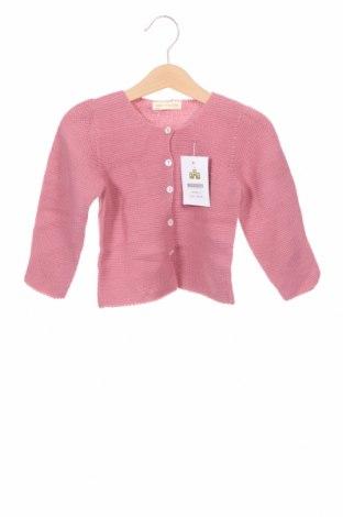 Детска жилетка Lola Palacios, Размер 3-4y/ 104-110 см, Цвят Розов, Акрил, Цена 10,92лв.