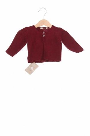 Детска жилетка Lola Palacios, Размер 9-12m/ 74-80 см, Цвят Червен, Акрил, Цена 23,40лв.