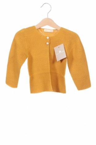 Pulover cu nasturi pentru copii Lola Palacios, Mărime 3-4y/ 104-110 cm, Culoare Galben, Acrilic, Preț 34,21 Lei