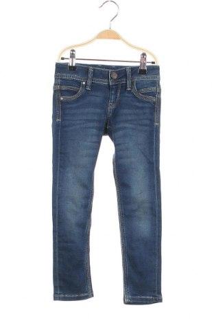 Παιδικά τζίν Pepe Jeans, Μέγεθος 3-4y/ 104-110 εκ., Χρώμα Μπλέ, 68% βαμβάκι, 22% πολυεστέρας, 9% βισκόζη, 1% ελαστάνη, Τιμή 27,53€