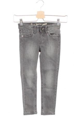 Dětské džíny  Pepe Jeans, Velikost 3-4y/ 104-110 cm, Barva Šedá, 98% bavlna, 2% elastan, Cena  322,00Kč