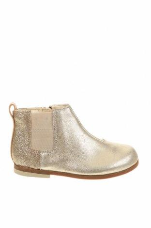 Детски обувки Clarks, Размер 27, Цвят Златист, Естествена кожа, еко кожа, Цена 149,00лв.