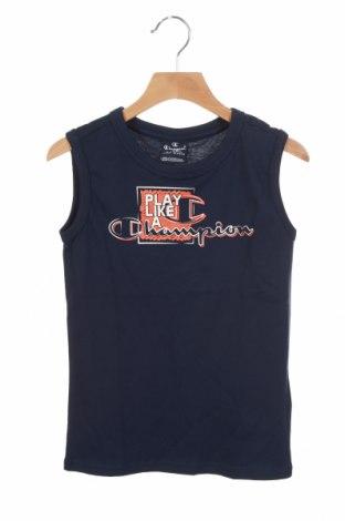 Μπλουζάκι αμάνικο παιδικό Champion, Μέγεθος 4-5y/ 110-116 εκ., Χρώμα Μπλέ, Βαμβάκι, Τιμή 8,25€