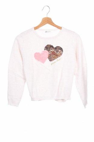 Dětský svetr  H&M, Velikost 8-9y/ 134-140 cm, Barva Bílá, Bavlna, Cena  510,00Kč