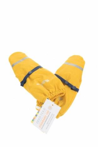 Детски ръкавици Playshoes, Цвят Жълт, Полиестер, Цена 20,16лв.