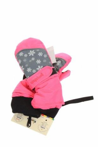 Детски ръкавици за зимни спортове Playshoes, Цвят Розов, Полиестер, Цена 20,16лв.
