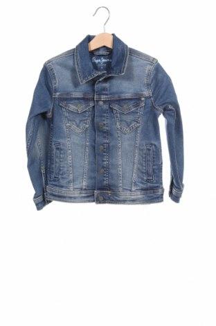 Geacă de blugi, pentru copii Pepe Jeans, Mărime 4-5y/ 110-116 cm, Culoare Albastru, 94% bumbac, 5% poliester, 1% elastan, Preț 250,16 Lei
