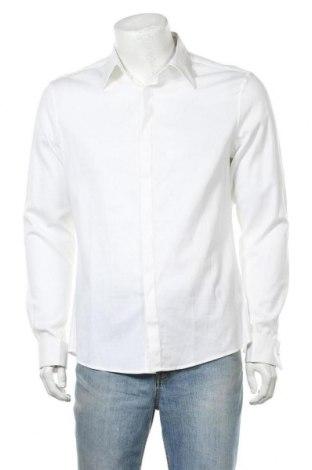 Ανδρικό πουκάμισο ASOS, Μέγεθος L, Χρώμα Λευκό, 98% βαμβάκι, 2% ελαστάνη, Τιμή 12,65€