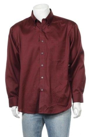 Мъжка риза Alain Delon, Размер XL, Цвят Червен, Памук, Цена 15,17лв.